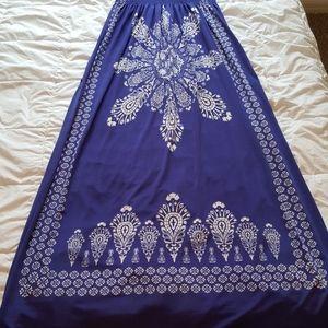 Just Love Dresses - S Blue Floral Maxi Sundress